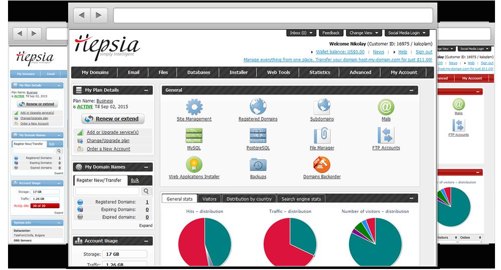 Free Hepsia Control Panel